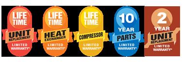 Amana warranty badges