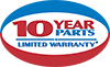 10 Years Parts Limited Warranty